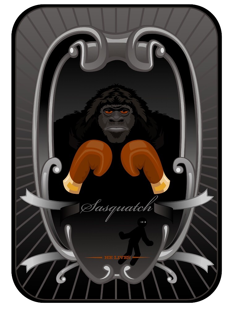 sasquatch collectors card by kaberoo