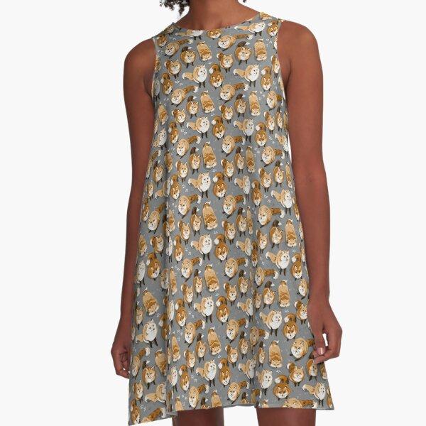 Fox Village Pattern A-Line Dress
