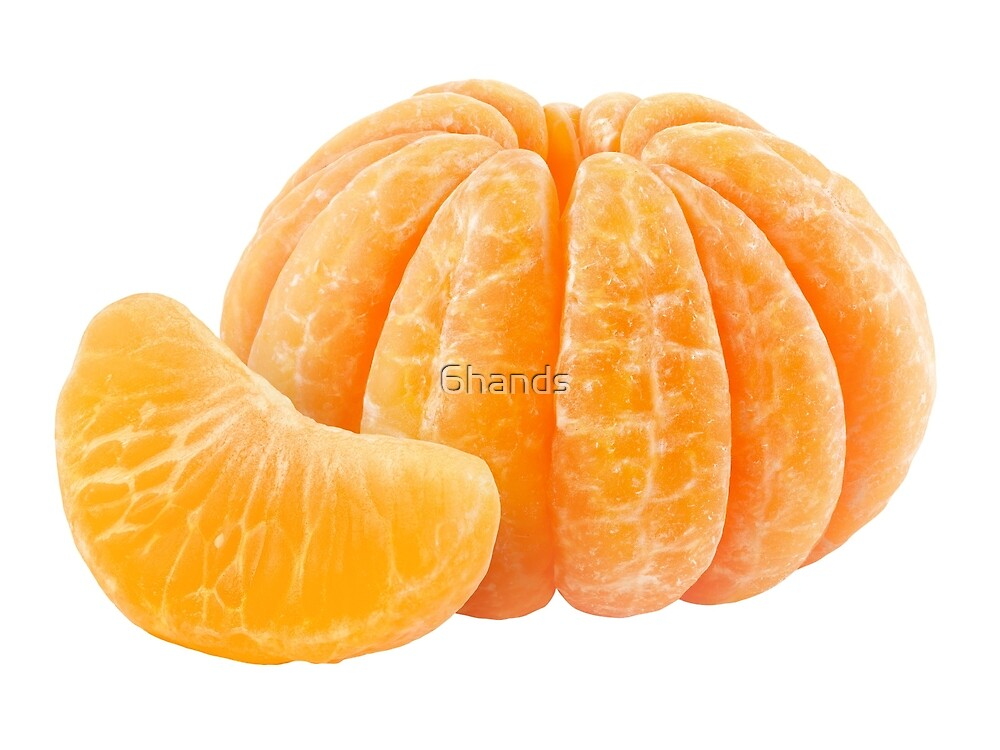 Peeled tangerine by 6hands