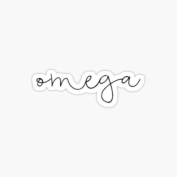 Omega (blk script) Sticker
