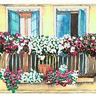 An Italian terrace | Watercolors art by DarinaDrawing