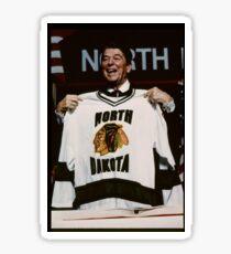 Reagan Fighting Sioux Jersey Sticker