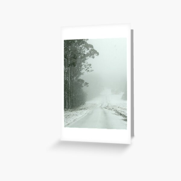 Snow on Mt Macedon Greeting Card