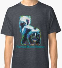 Florida Skunk Rescue Design by Robert Phelps Classic T-Shirt
