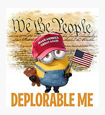 Deplorable Me - We the People Photographic Print