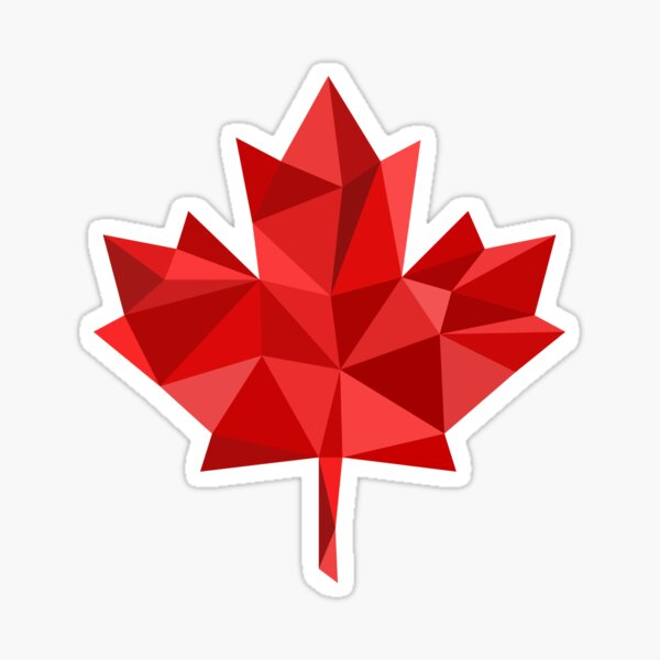 Maple Leaf - Low Poly Sticker