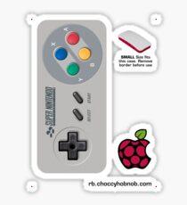 Super Nintendo Entertainment System (SNES) PAL Controller Skin for the Official Pi Zero case Sticker