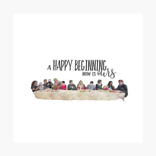 Once Upon a Time - Happy Beginning Dinner Photographic Print