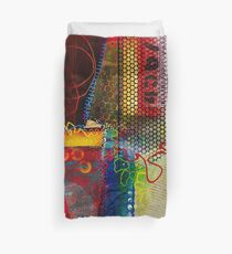 Colorful Collage Art Duvet Cover