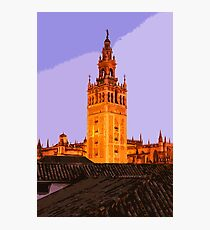 Sevillean sunset over the Giralda Photographic Print