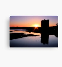 Belvelly Castle Sunrise Canvas Print