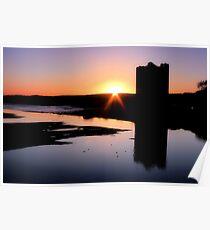Belvelly Castle Sunrise Poster