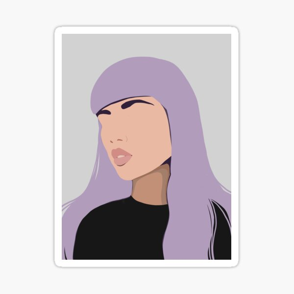 harlow, modern, minimal abstract portrait of a woman Sticker