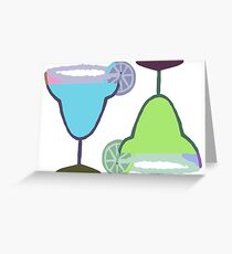 MARGARITAS | blue & green Greeting Card