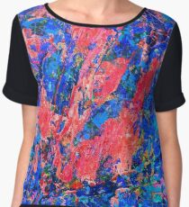 Cool Jazz oil on canvas Chiffon Top