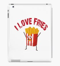 I Love Fries Funny Cute Vintage French iPad Case/Skin