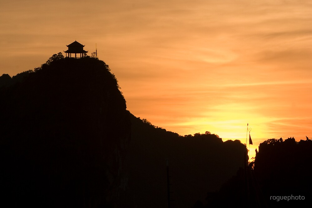 Another sunset at Halong Bay - Vietnam by roguephoto