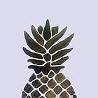 PINEAPPLE | hand painted black & gold by anna c