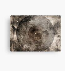 Vintage Vinyl Records Retro Music DJ Art - Old Vinyl Metal Print