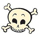 Happy Skull by evilkidart