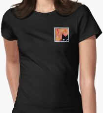 Cat and Bird Women's Fitted T-Shirt
