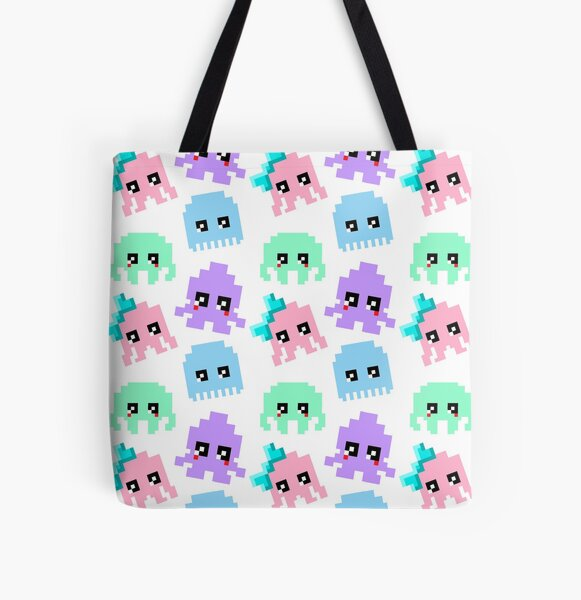 8-bit Cutie Gang All Over Print Tote Bag