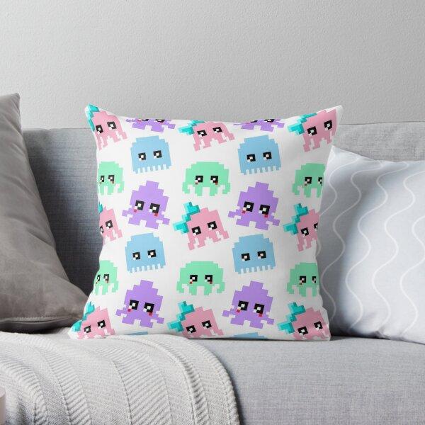 8-bit Cutie Gang Throw Pillow