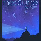 NEPTUNE Space Tourism Travel Poster by sp8cebit