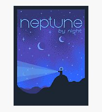 NEPTUNE Space Tourism Travel Poster Photographic Print