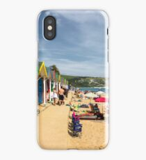Swanage beach huts  iPhone Case/Skin