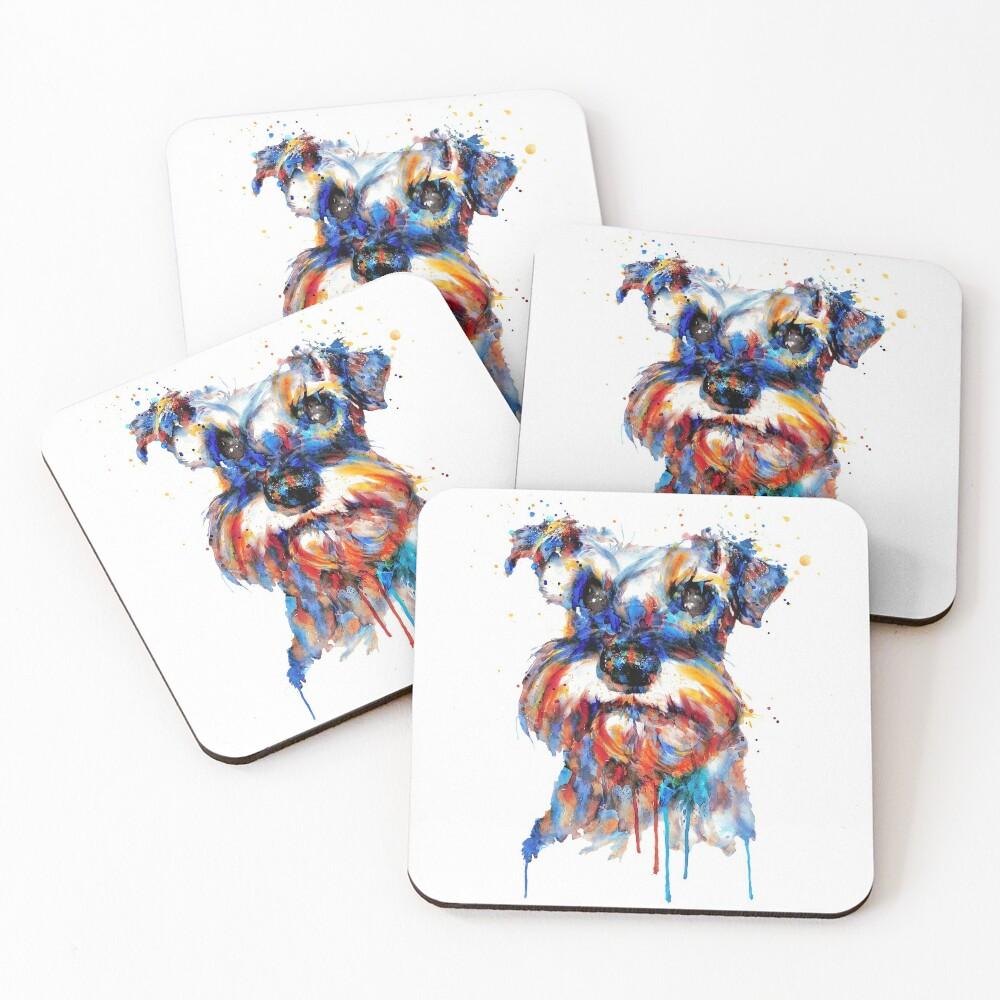 Schnauzer Head Coasters (Set of 4)