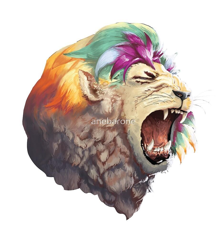 Rainbow Lion by anebarone