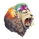 Rainbow Lion by anebarone