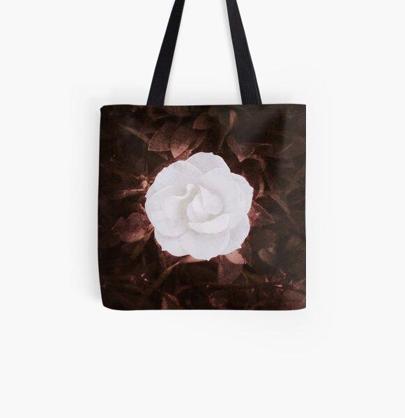 Rose blanche, romantique Tote bag doublé