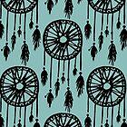 DREAM CATCHER blue grey by anna c