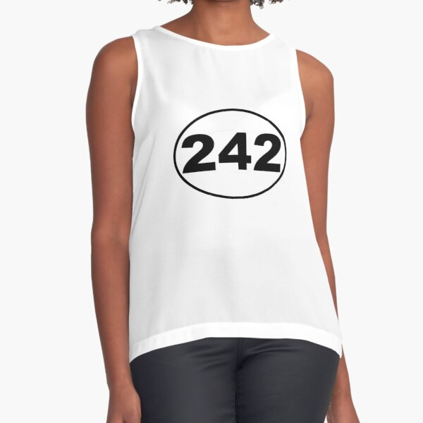 Front 242 Band Decal Sleeveless Top