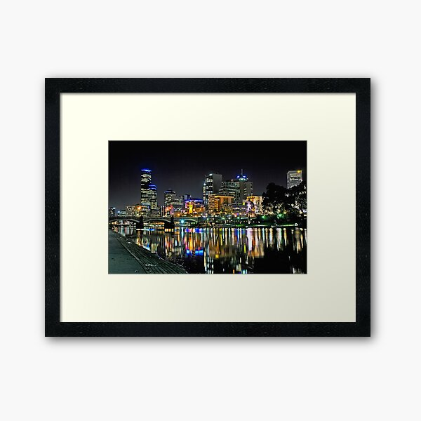 Colourful Melbourne City Framed Art Print