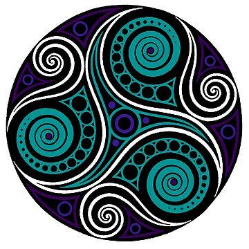 Celtic Triskell (blue)  by potty