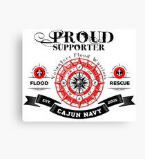 Cajun Navy | Proud Supporter Canvas Print