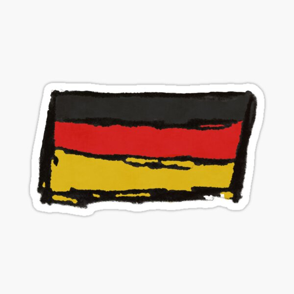 Flag of Germany Rough Sketch Sticker