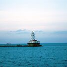 The Michigan Pier lighthouse by Amber Finan