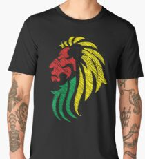 Lion Reggae Flag Colors  Men's Premium T-Shirt