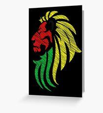 Lion Reggae Flag Colors  Greeting Card