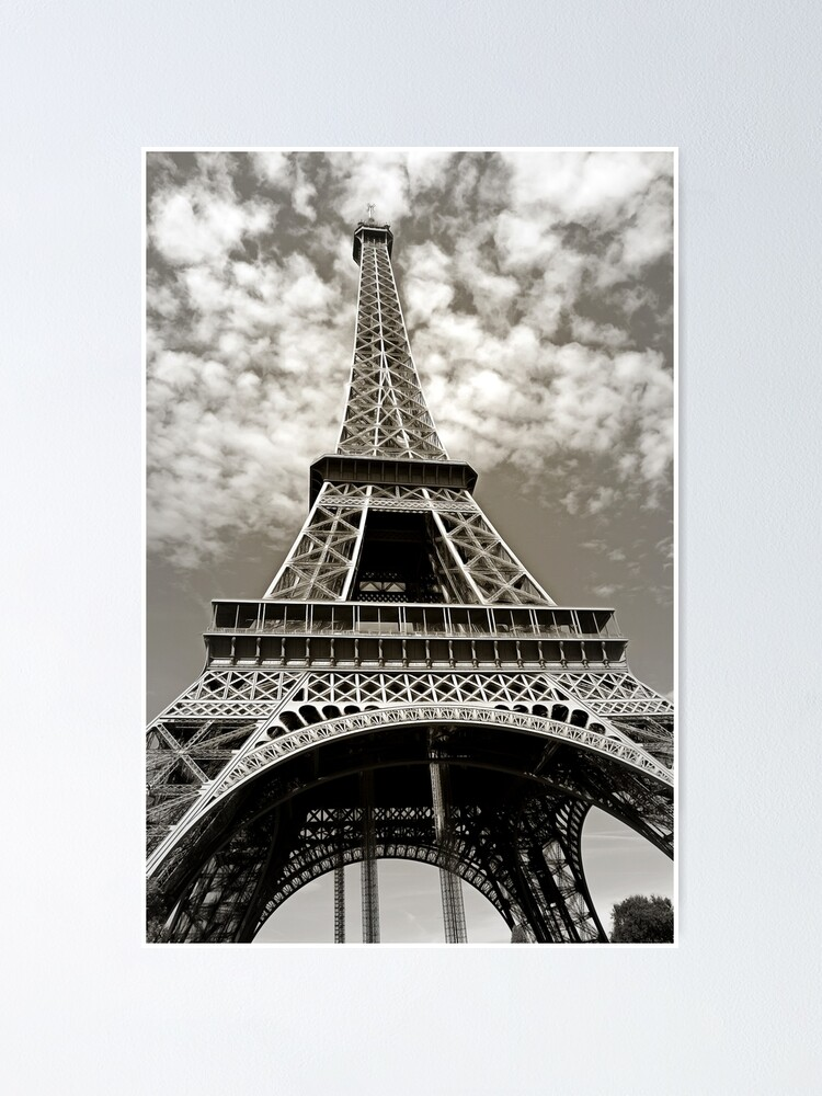 Alternate view of Eiffel Tower Poster