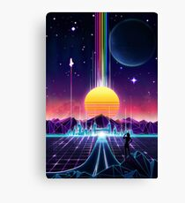 Neon Sunrise Canvas Print