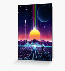 Neon Sunrise Greeting Card