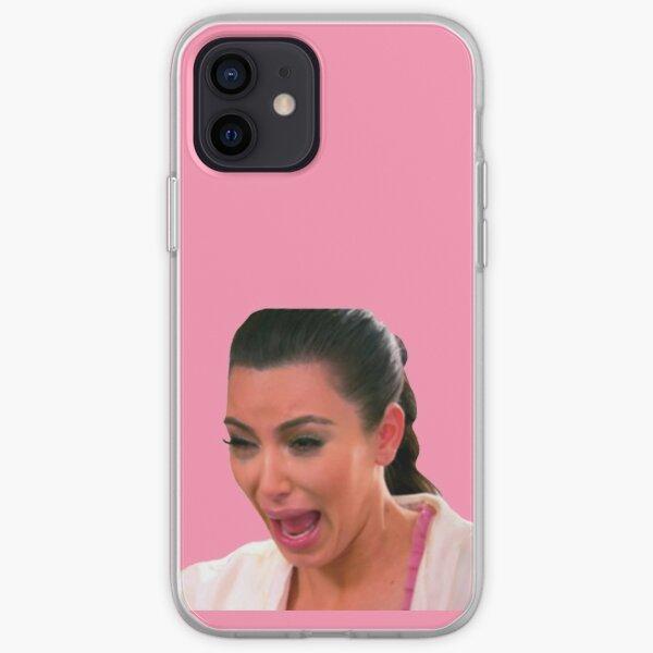La cara fea de Kim llorando Funda blanda para iPhone