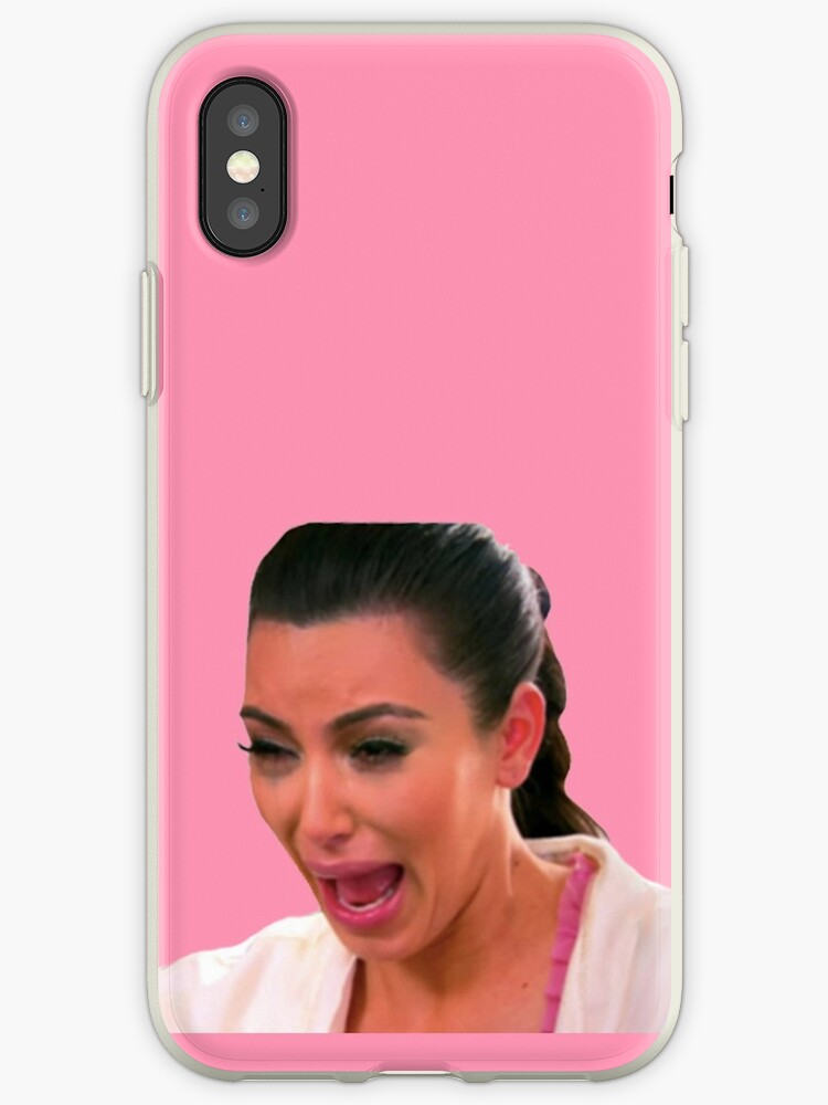 new product 846e4 72a86 'Ugly Kim Crying Face' iPhone Case by vivienne G