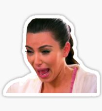 Ugly Kim Crying Face Sticker