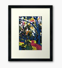 Along the river path Framed Print